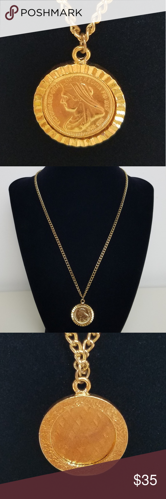 Solid 9ct Yellow Gold Sovereign Coin Plain Bezel Pendant Mount Finding