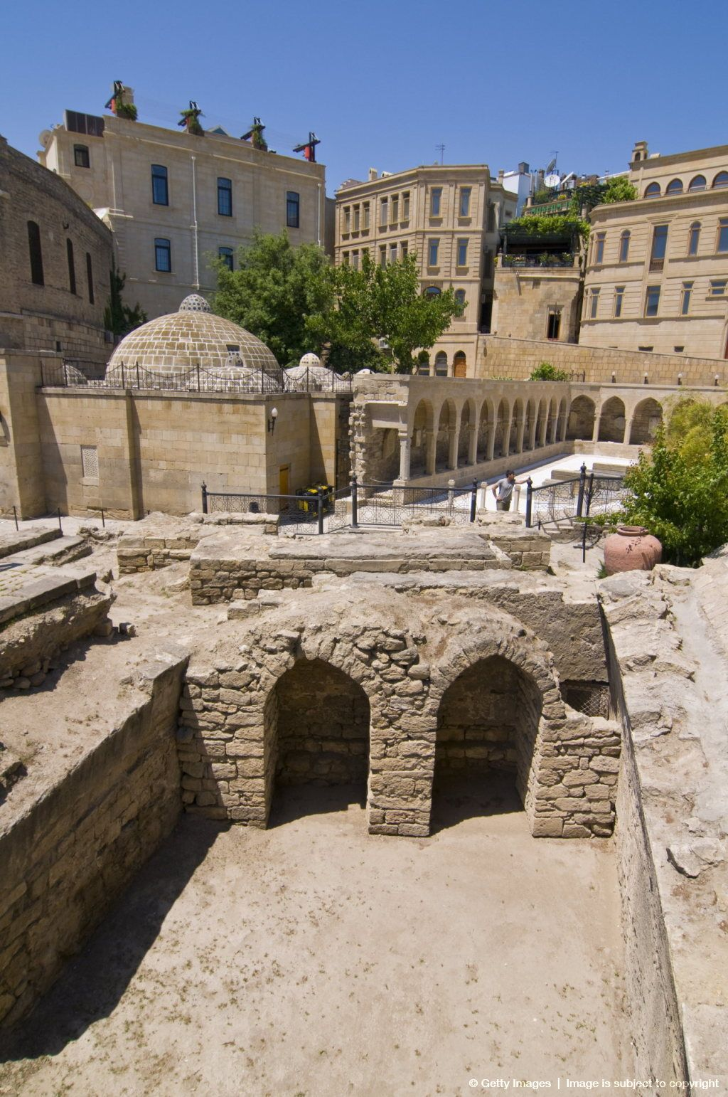Excavations near the Maiden Tower, Baku, Azerbaijan, Asia