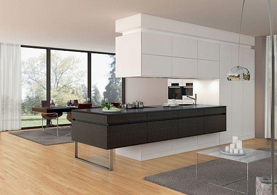 Keuken Als Afscheiding Tussen Het Woongedeelte Modern Keukenontwerp Eigentijdse Keuken Hedendaagse Keuken Ontwerp