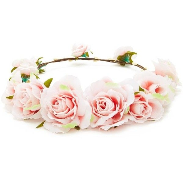 Forever21 Rose Flower Crown Headwrap found on Polyvore featuring  accessories b7d890db829