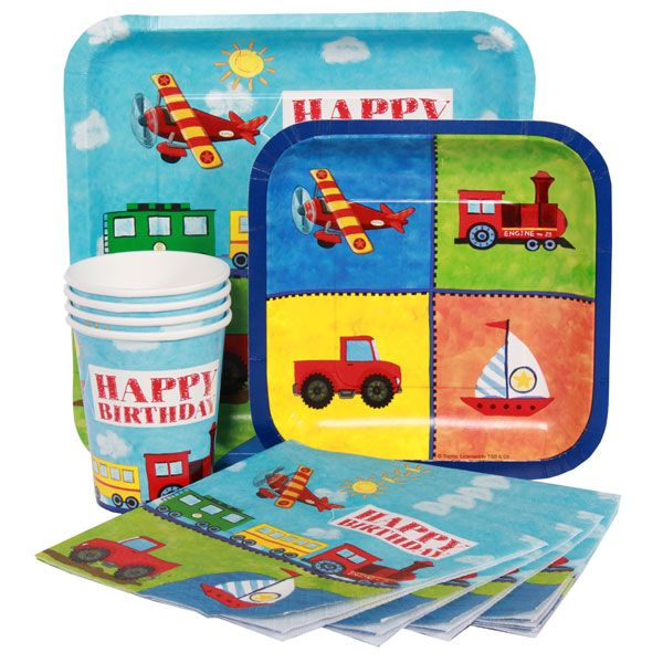 Cups Napkins /& Plates Thomas The Tank Party Supplies Express Pack for 8 Guests