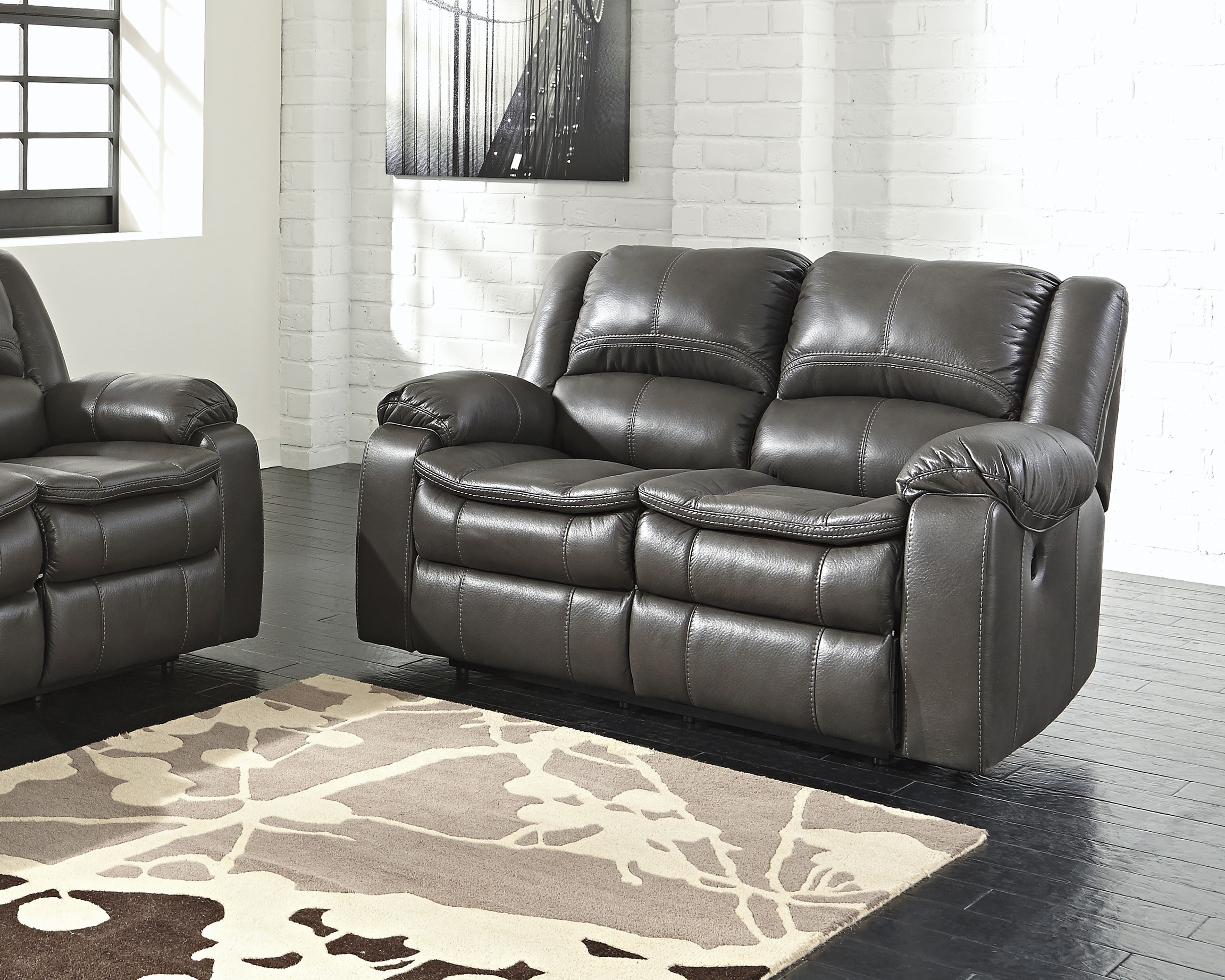Long Knight Power Reclining Loveseat Gray Products