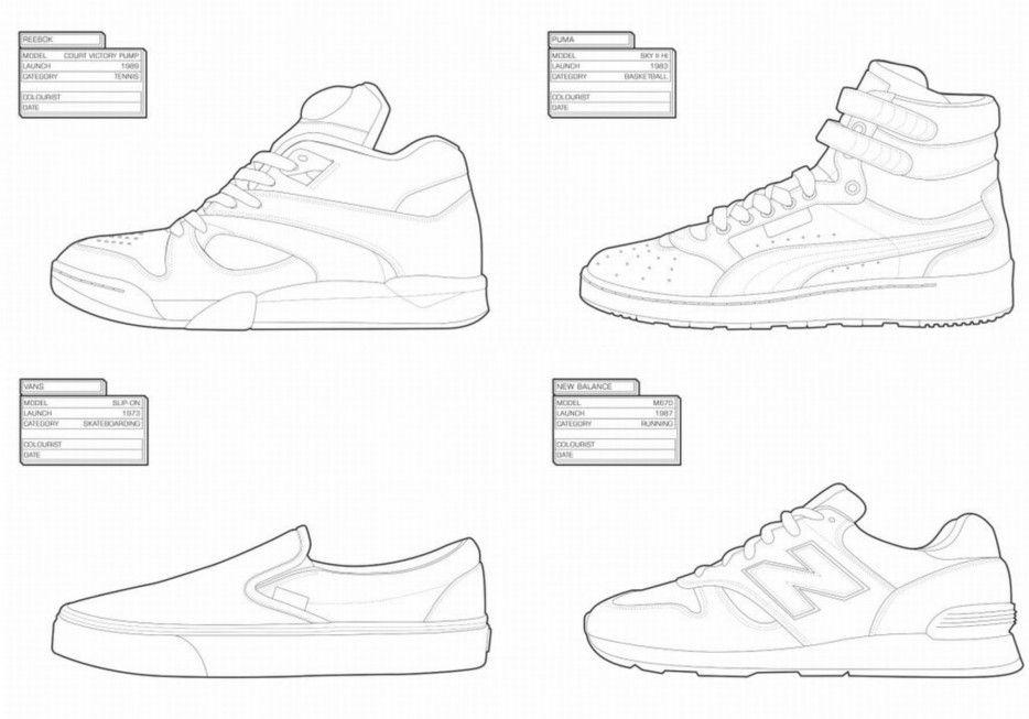 sneaker coloring book sneakers Pinterest Sneakers