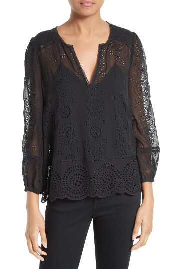 35f31ddf61a Joie Joie Alla Eyelet Silk Blouse available at #Nordstrom | Spring ...
