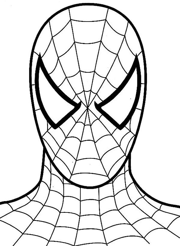 Spiderman Coloring Spiderman Coloring Spiderman Face Spiderman