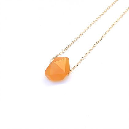 """LONG STONE CARNELIAN by JULIA SZENDREI. Wear it long at 27-29"""" wear it forever with 14k gold filled chains. Natural carnelian is the love stone. Emulating warm tones helps balance and calm your solar plexus chakra. Start at the base and work your way up. Shop Now www.juliaszendrei.com"""