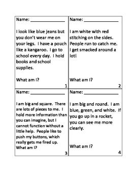 math worksheet : inference riddles for first day of school  spy science  : Riddles For Middle Schoolers