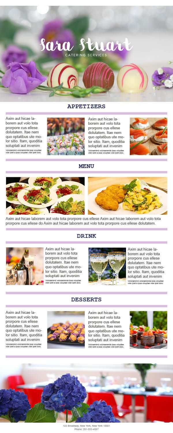 The Menu Campaign Highlight Your Special Dishes With Pictures And