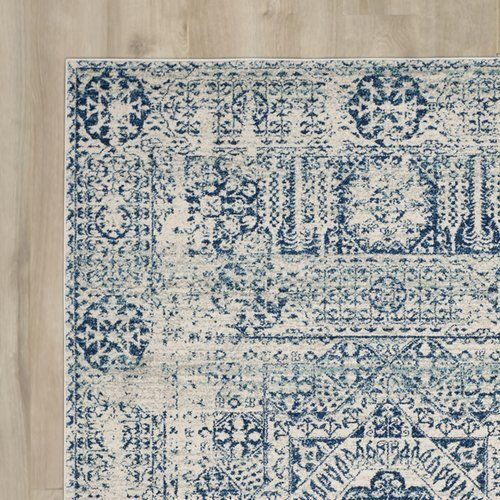 Found it at Joss & Main - Nellie Ivory/Blue Area Rug