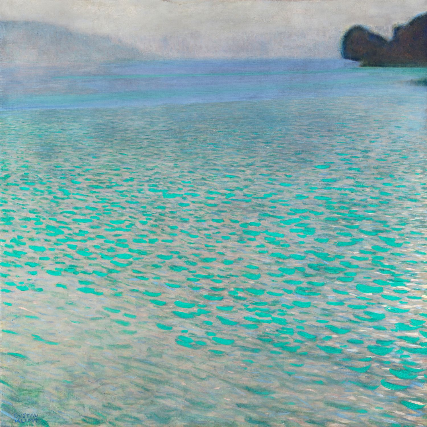 """""""Attersee (Lake Attersee)"""" by Gustav Klimt"""