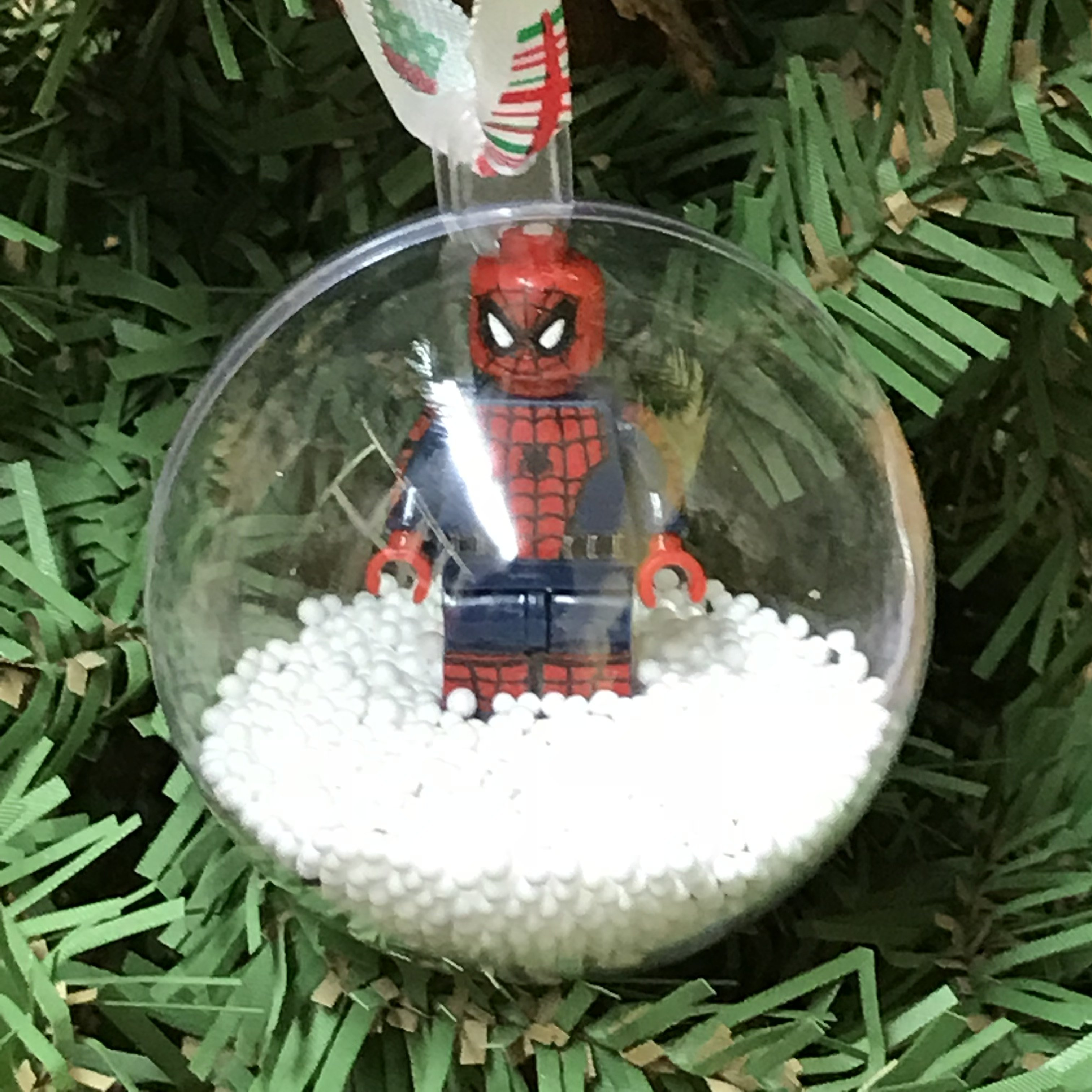 Holiday tree ornament marvel dc comic spiderman lego figurine products