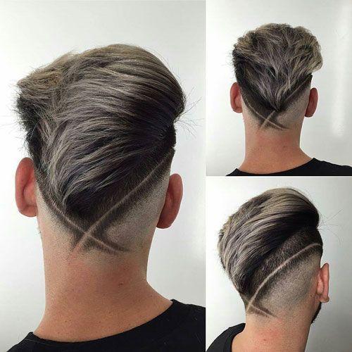 V Fade Haircut With Hair Design Hair Designs Pinterest Fade