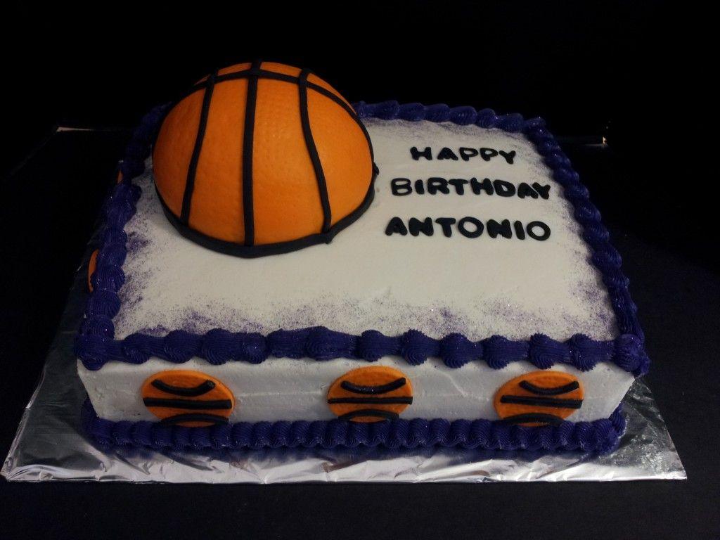 Birthday Cakes Phoenix ~ Fondant basketball cake with the phoenix suns theme colors i