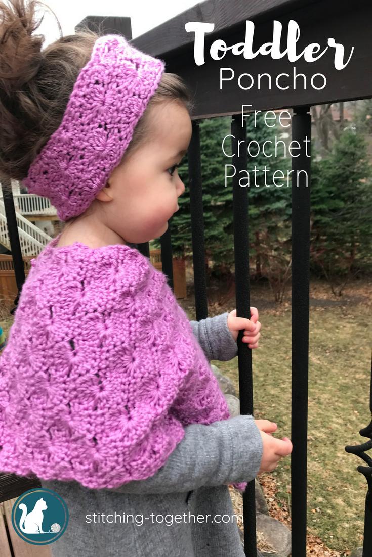 Starburst Crochet Toddler Poncho | Crochet Wearables