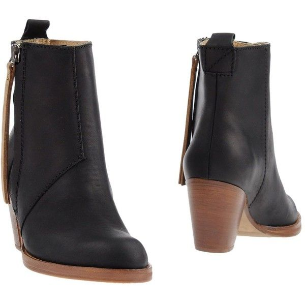 Acne Studios Ankle Boots ($330) ❤ liked on Polyvore featuring shoes, boots, ankle booties, black, black ankle boots, ankle boots, black ankle bootie, black ankle booties and leather bootie