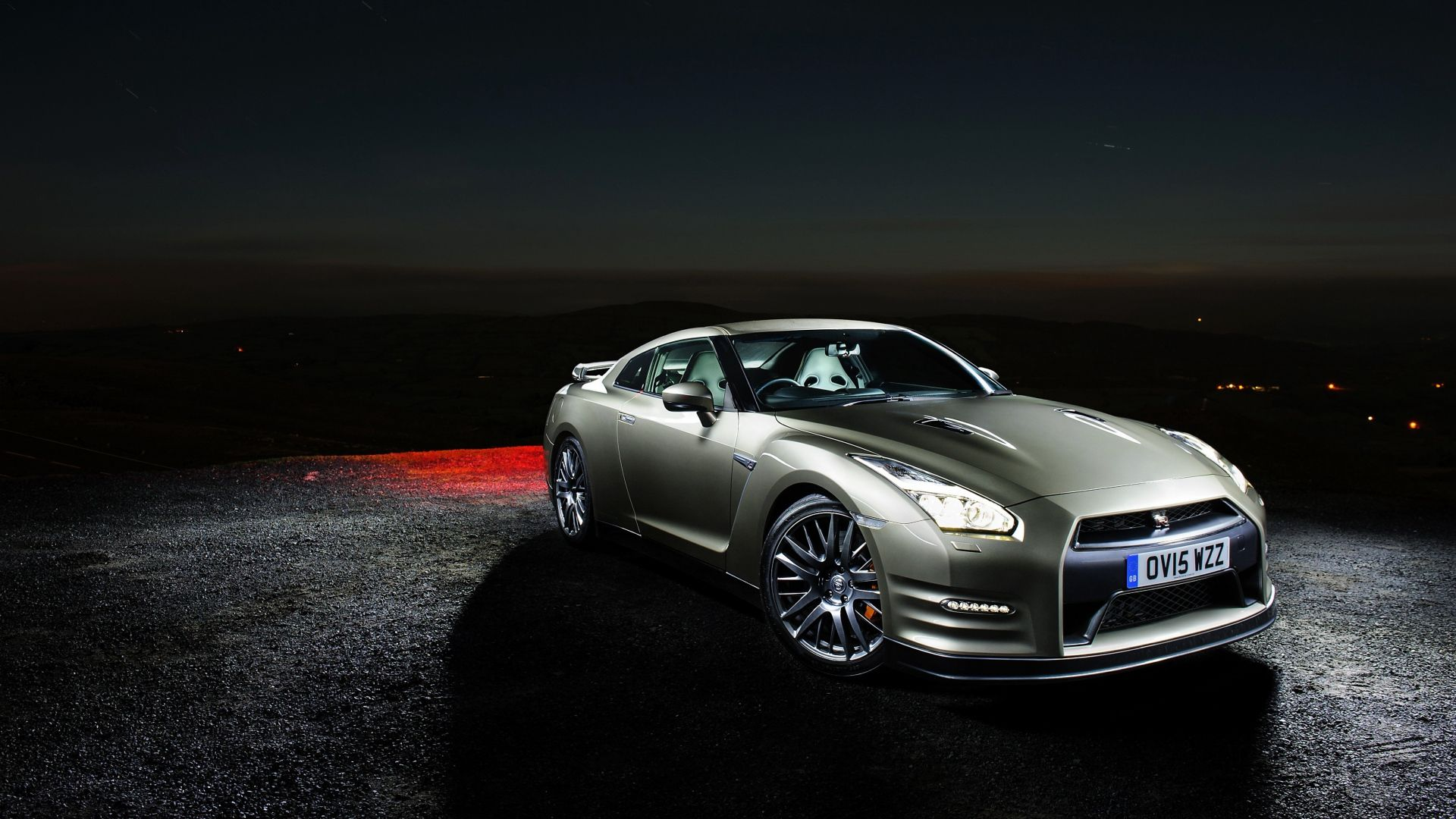 1920x1080 Wallpaper Nissan, Gt R, Side View, Night