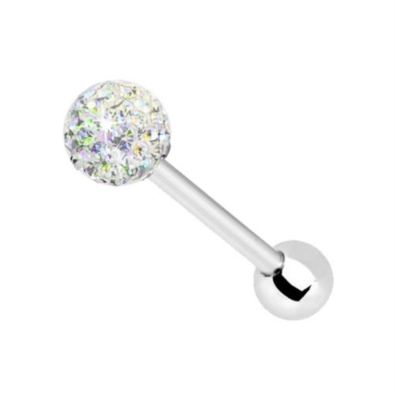 Piercing tongue ball multi-crystal steel