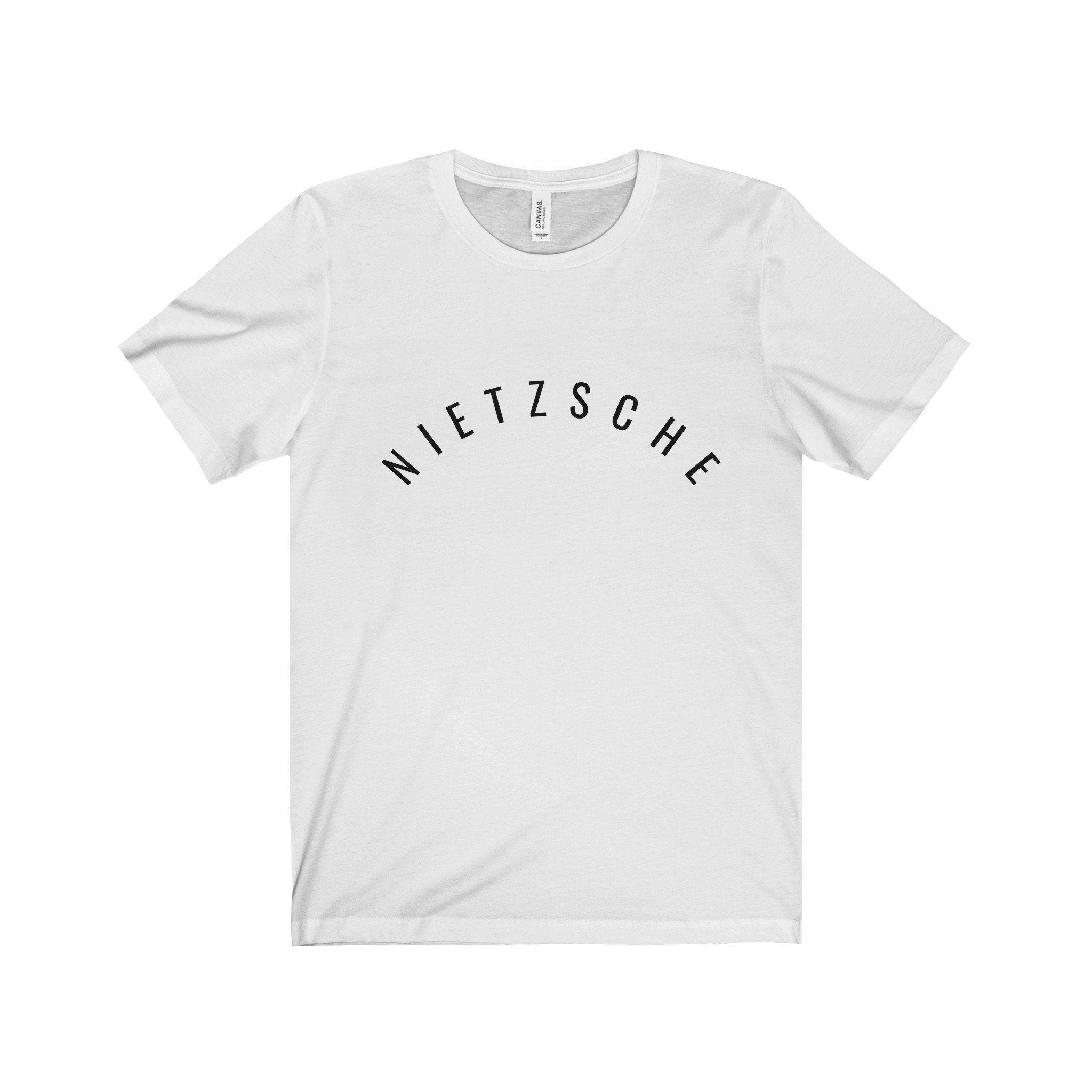 Nietzsche Black Letter Tee 5 Colors Available Short Sleeve Tee