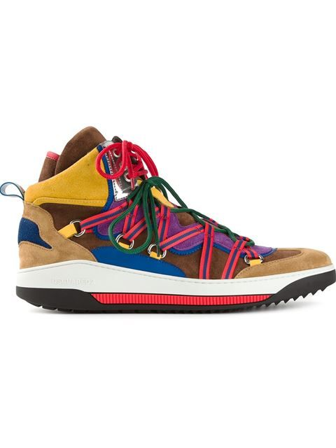 87e54f29ef387 Shop DSQUARED2 hi-top sneakers in Eraldo from the world s best independent  boutiques at farfetch.com. Over 1000 designers from 60 boutiques in one  website.