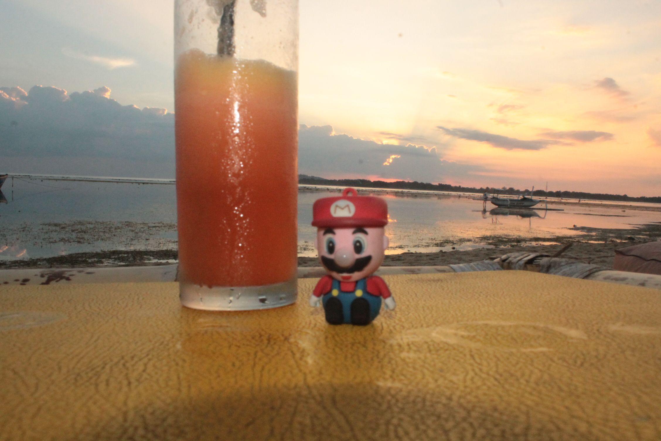 Disfrutando de la puesta de sol en Gili Air