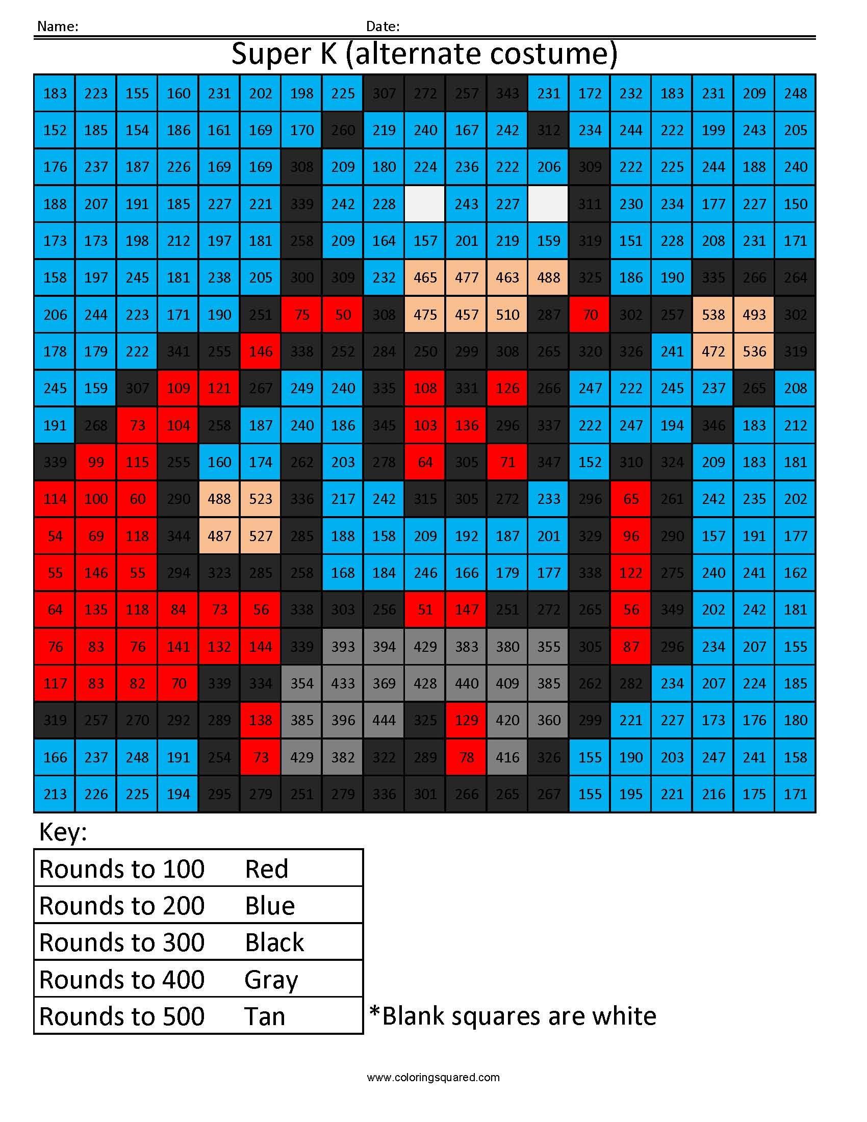 Super K- Rounding Hundreds Place | Math Activity Book ...