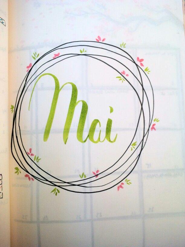 Page de garde mensuelle - Mai