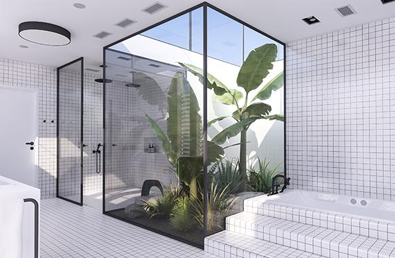 Project inside 10 baies vitr es pour une belle luminosit bathroom salle de bain salle - Une belle salle de bain ...