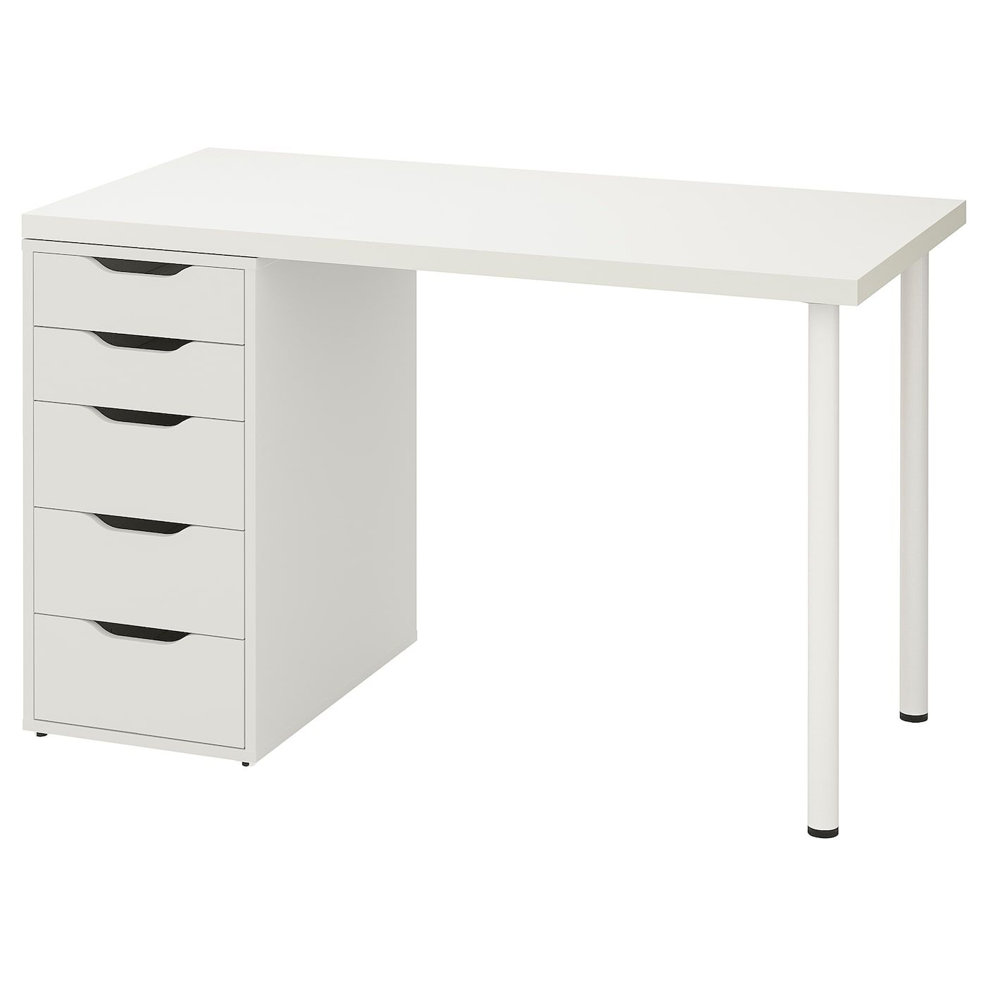 Linnmon Alex Table White 120x60 Cm In 2020 Ikea Drawer Unit Wall Shelf Unit