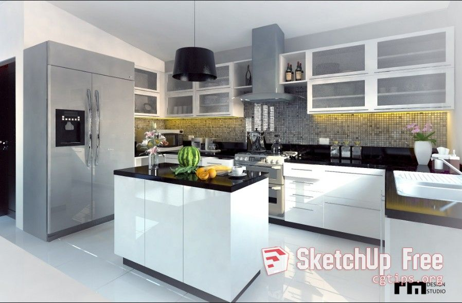 1762 Kitchen Sketchup Model Free Download | Sketchup Free