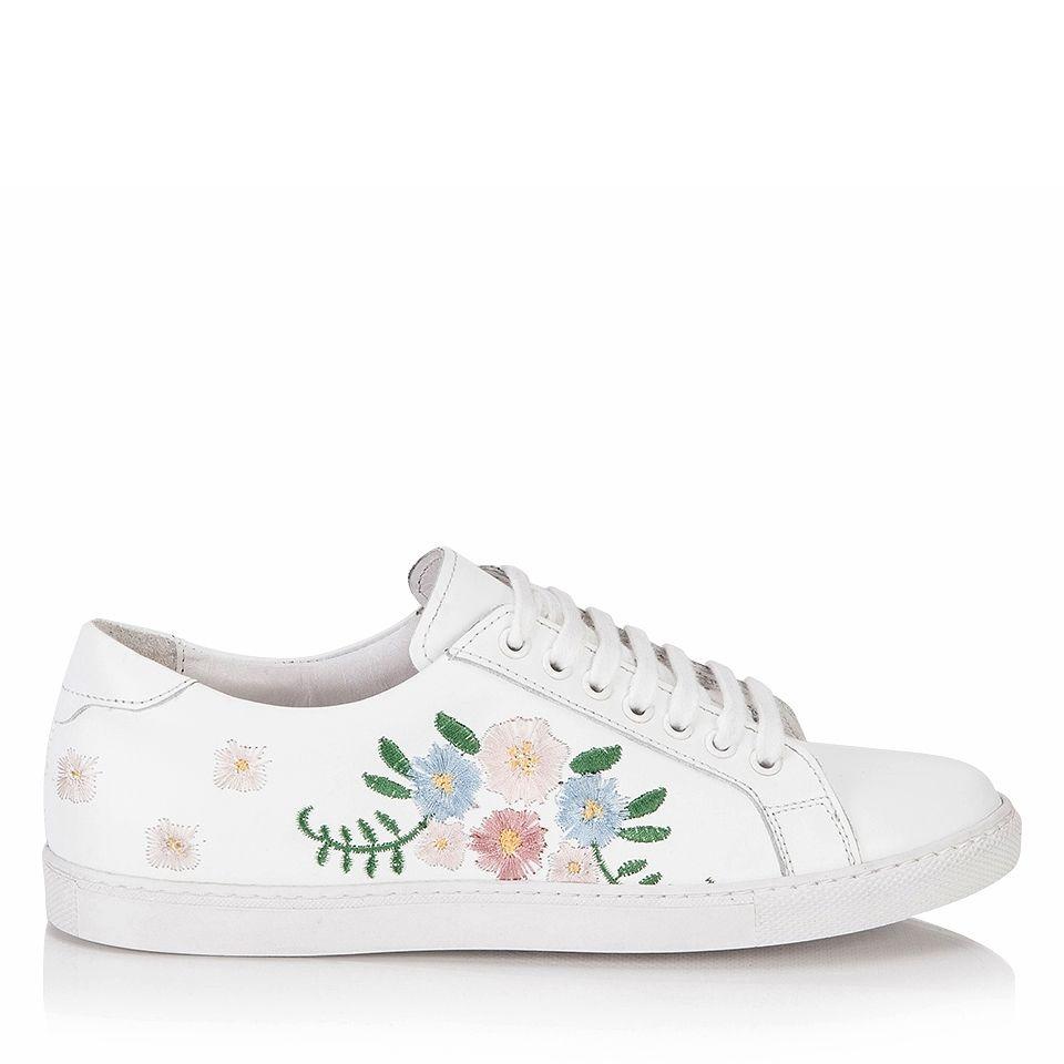 Hotic White Flat Shoes Ayakkabilar Canta Aksesuarlar