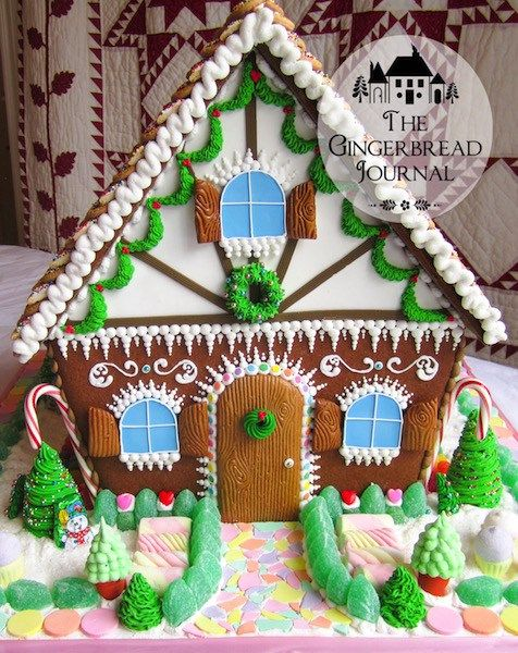 Vintage And Classic More Gingerbread Houses From Christmas Past Homemade Gingerbread House Gingerbread House Template Christmas Gingerbread House