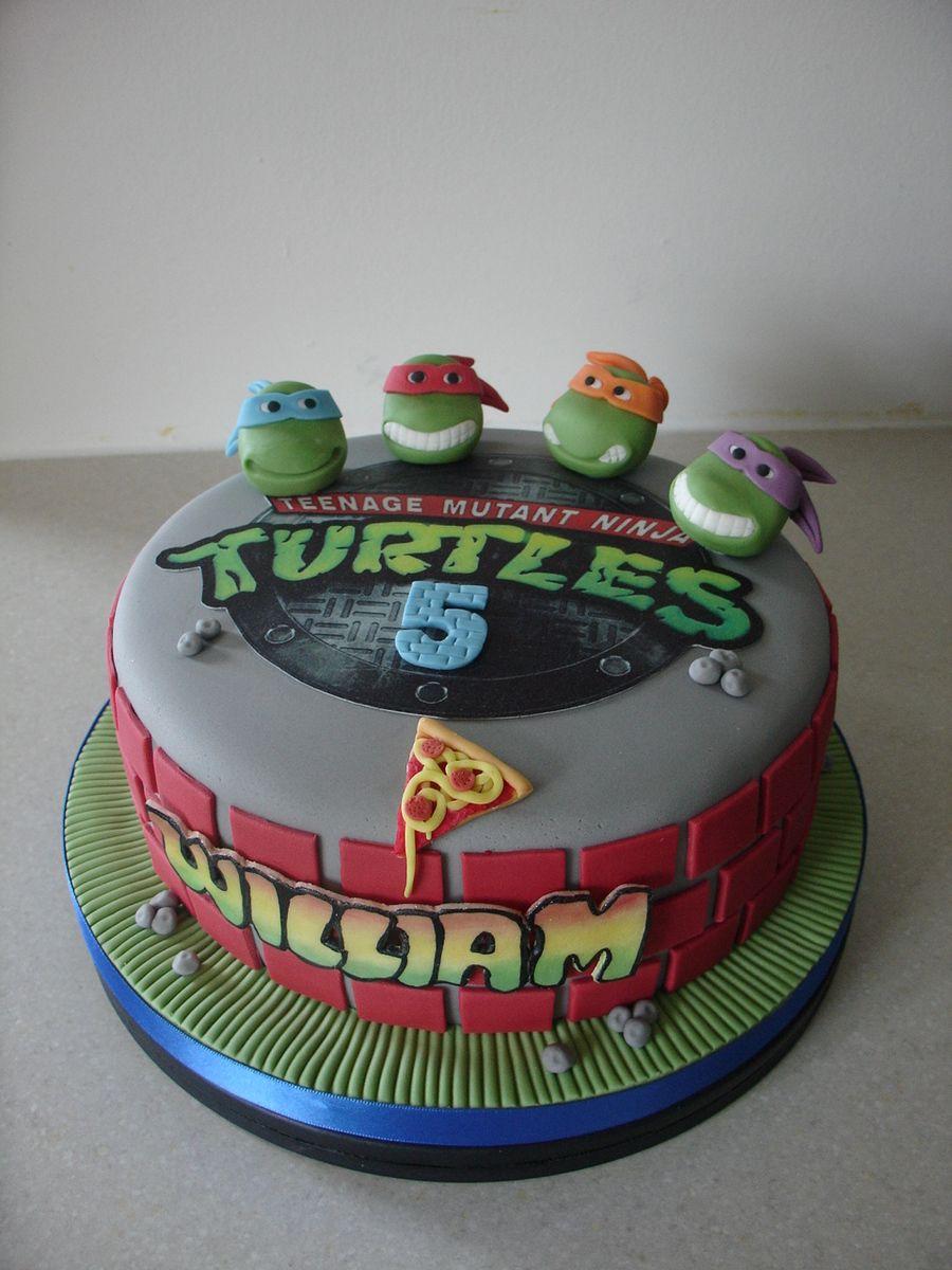 Teenage Mutant Ninja Turtles Fondant Cake Ninja Turtle Birthday Cake Ninja Turtle Cake Tmnt Cake