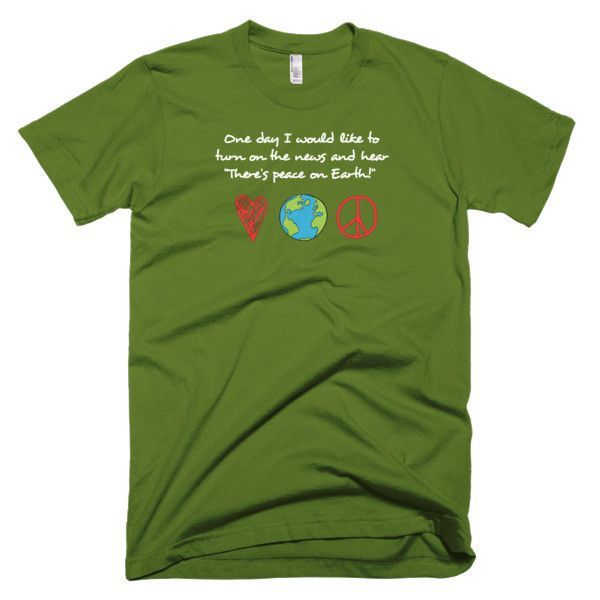 Beautifully designed inspirational t-shirt for all peace loving and peace desiring people. This American Apparel t-shirt is the smoothest and softest t-shirt you'll ever wear. Made of fine jersey, it