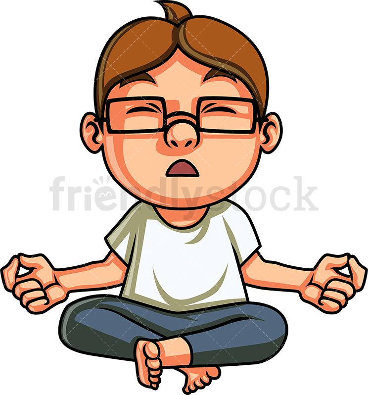Yoga Kid Meditating Cartoon Clipart Vector Friendlystock Yoga For Kids Cartoon Clip Art Kids Vector
