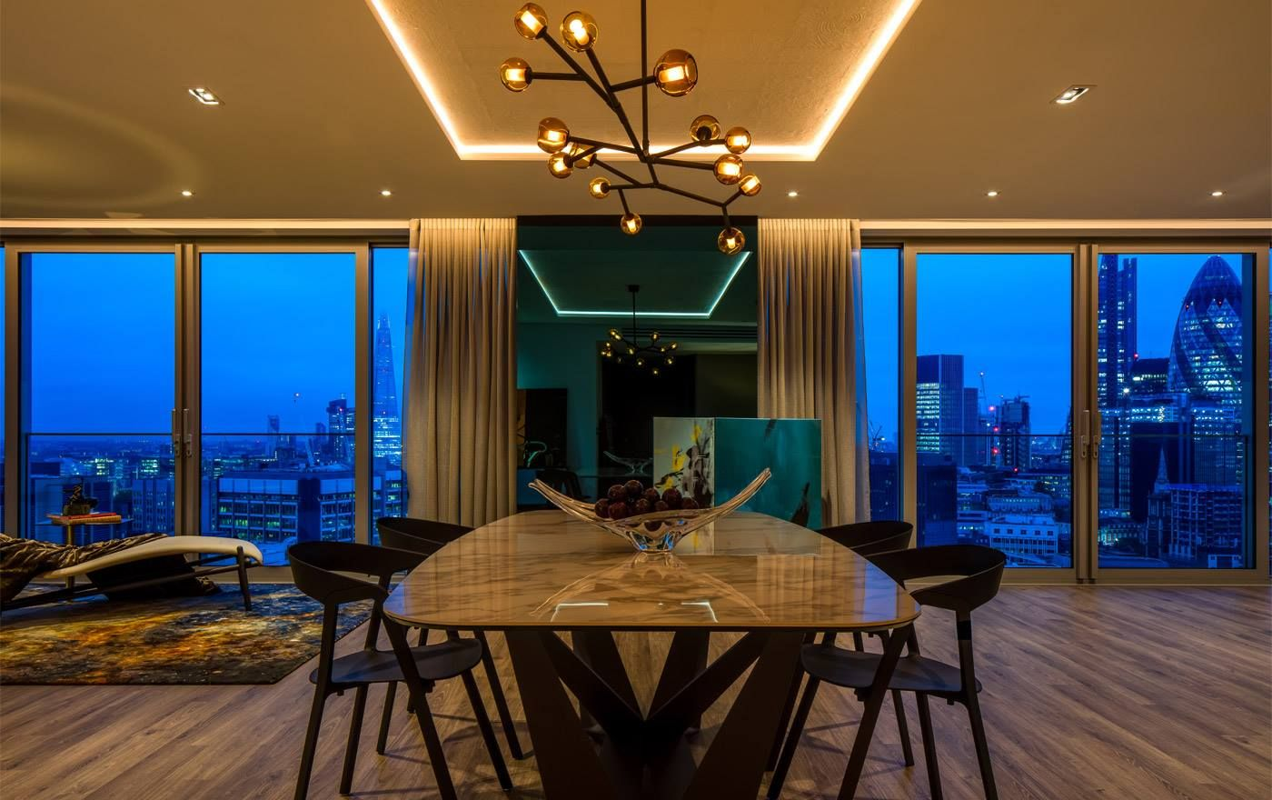 gorgeous space 3 rugs in private residence london. Black Bedroom Furniture Sets. Home Design Ideas