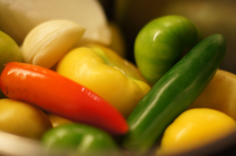 Ingredientes para salsa verde