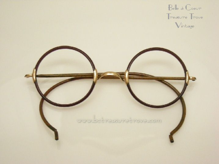 6df7e72290ed Antique 1920s Round Rim Windsor Celluloid Shuron Eye Glasses Frame ...