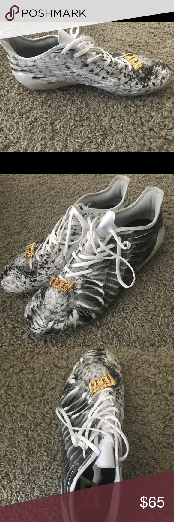 competitive price dfb2f 9c23b adidas cleats Adizero 5-Star 6.0 Uncaged Cleat Men s Football, Eagle  White-Metallic Gold adidas Shoes Athletic Shoes