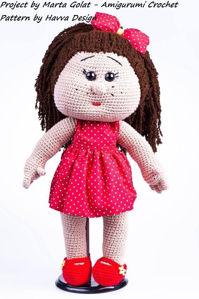 Crochet Amigurumi Doll Orginal Pattern From Havva Design Golatki