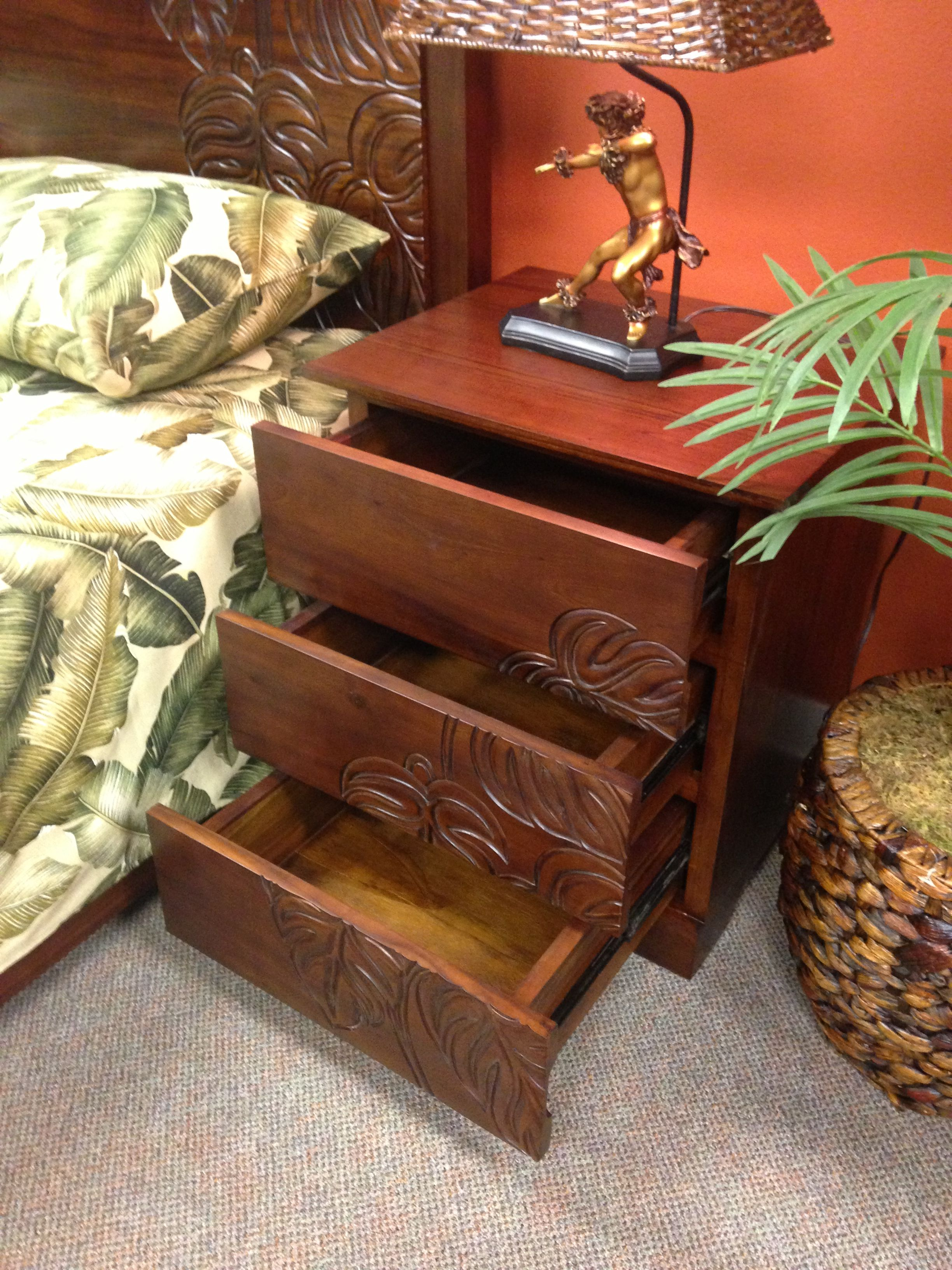 Night stands for master bedroom. Picture taken at furniture store. Lifestyle furniture Maui HI