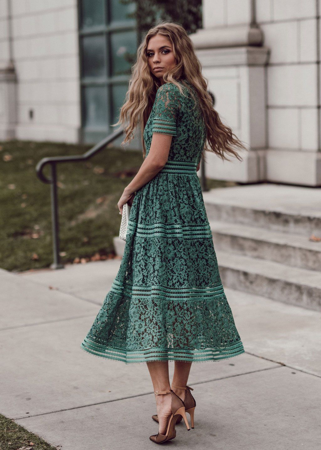 Duchess lace dress in 2020 green lace dresses dresses