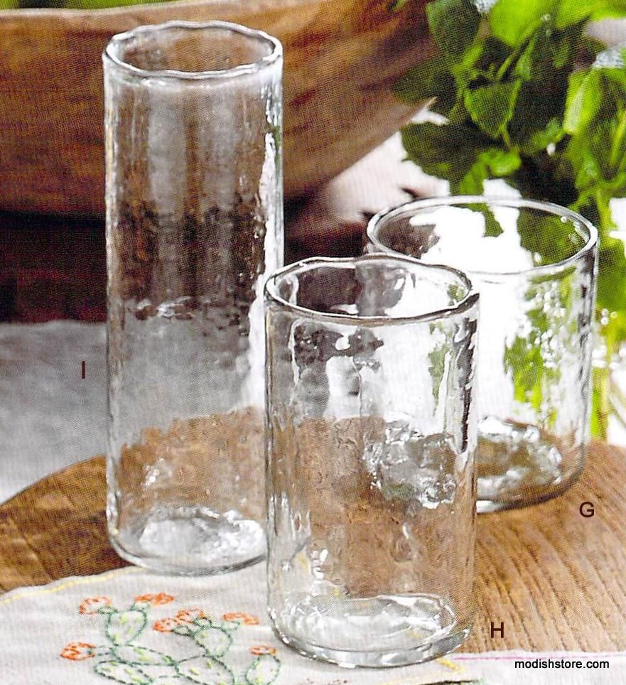 60 00 Roost Ripple Glasses Set Of 6 These Gorgeously Handcrafted Glasses Have An Uneven Rippled Text Glassware Everyday Glass Collection Townhome Decorating