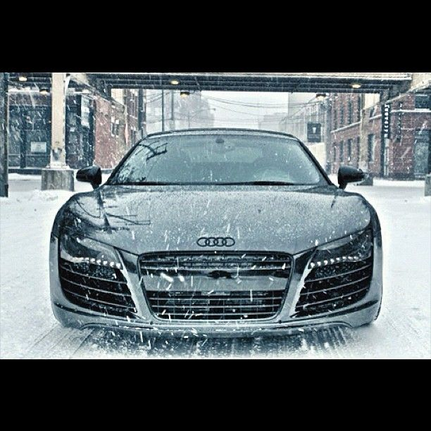 Audi In A Winter Storm