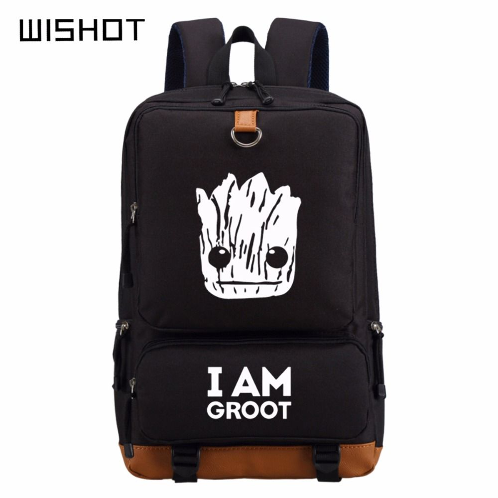 I Am GROOT Backpack Men women s Kids Student School Bags   Price   51.80   7e07e65685