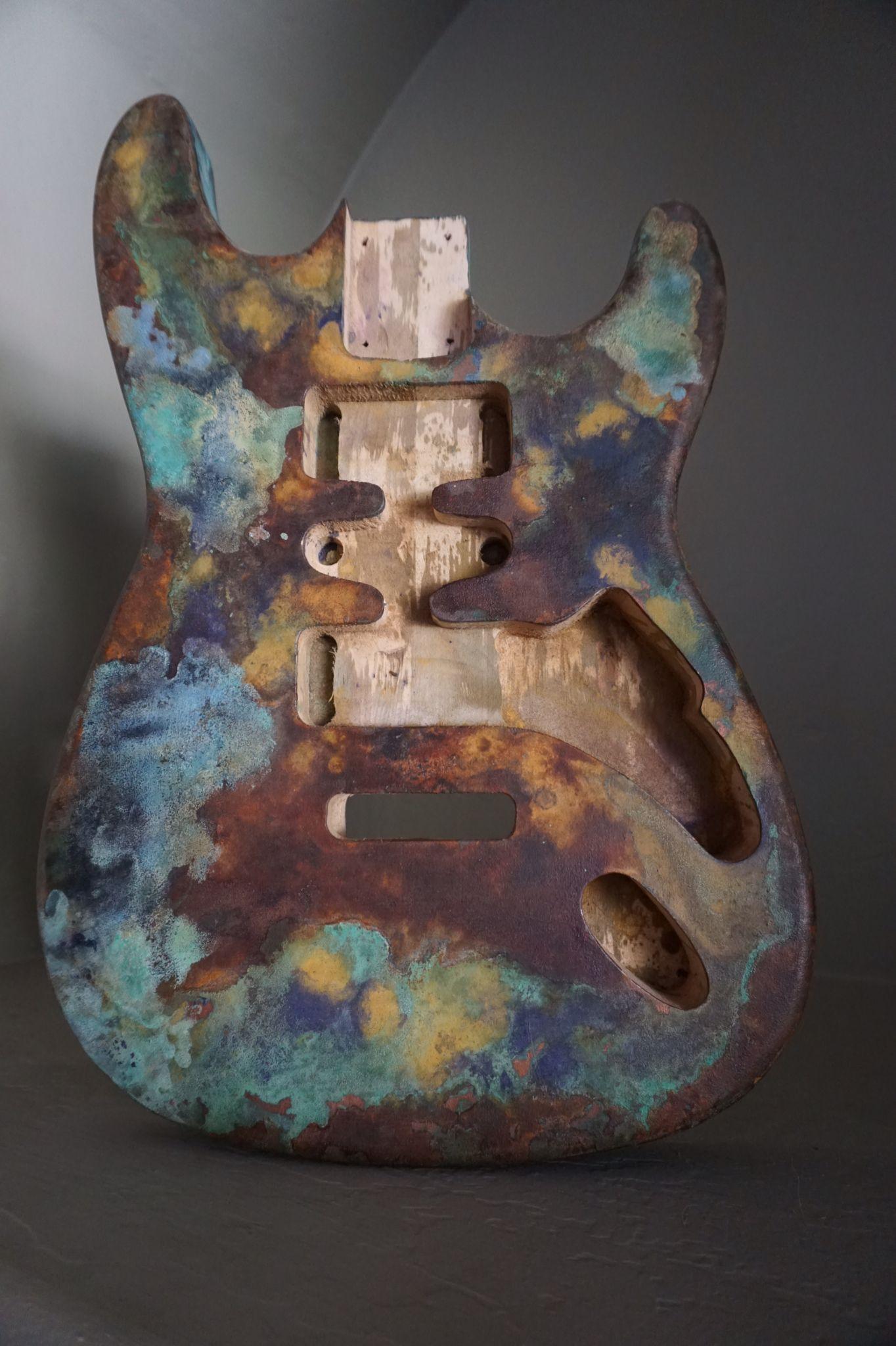 Oxidized Rust Metal Effect Www Promusicianslist Com Guitar Diy Guitar Art Guitar Painting