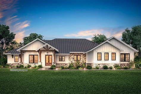 15 One Story Ranch House Farmhouse Style House Ranch Style House Plans House Plans Farmhouse