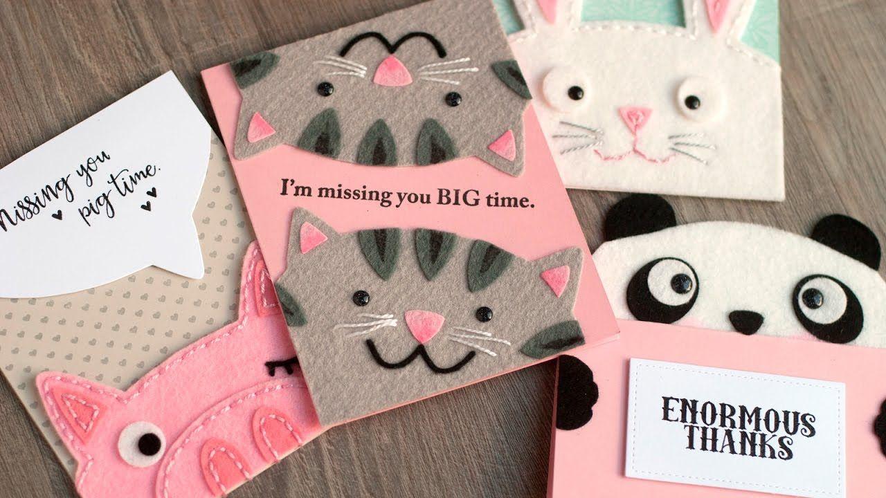 So Cute And Original Felt Greeting Cards Card Making Tips Ideas