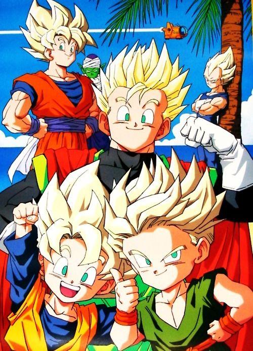 Dbz Gohan Goku Vegeta Goten And Trunks Personajes De Dragon Ball Goten Y Trunks Dragon Ball Z