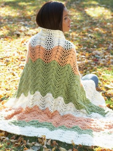 Melon Ripple Afghan | Yarn | Free Knitting Patterns ...
