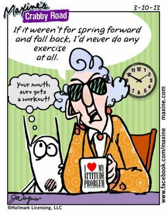maxine on daylight saving time seasons pinterest funny humor